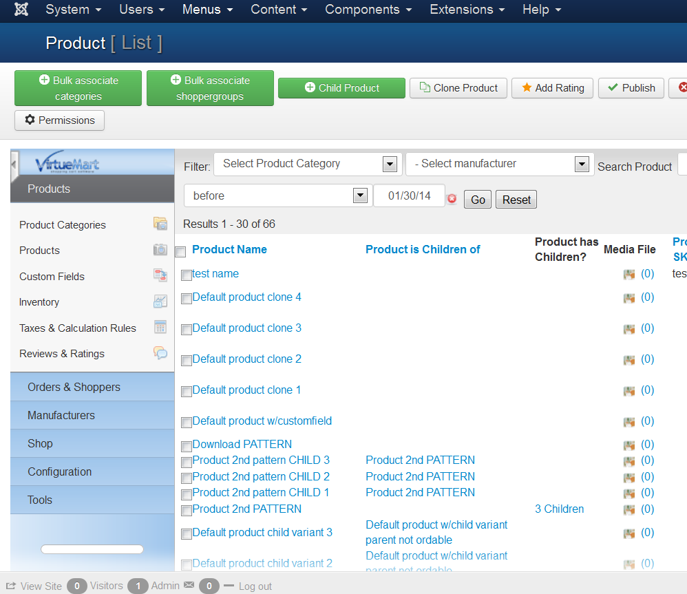virtuemart2.1 on joomla 3.2